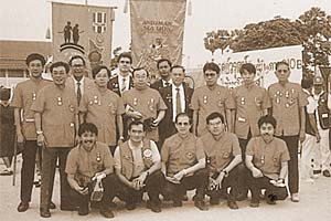 Our Lions Club and members of the L.C. Phuket at the Lions Convention in Korat, 1991