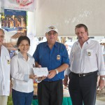 Our club gave 150 000 Baht from our sponsors to the PSV